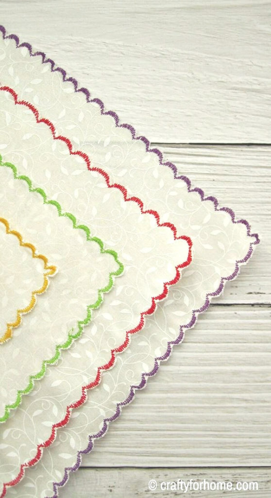 Colorful Scalloped Napkins