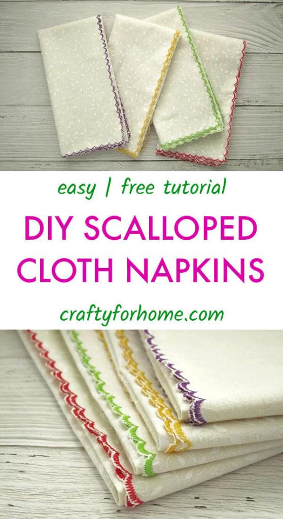 DIY Scalloped Cloth Napkin