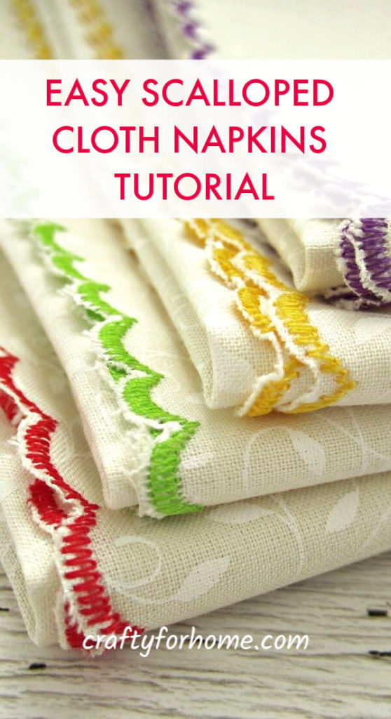 Easy Scalloped Cloth Napkins Tutorial