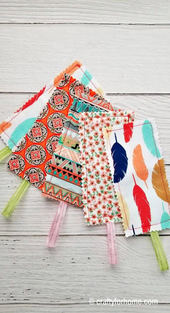 Colorful Fabric Bookmarkss