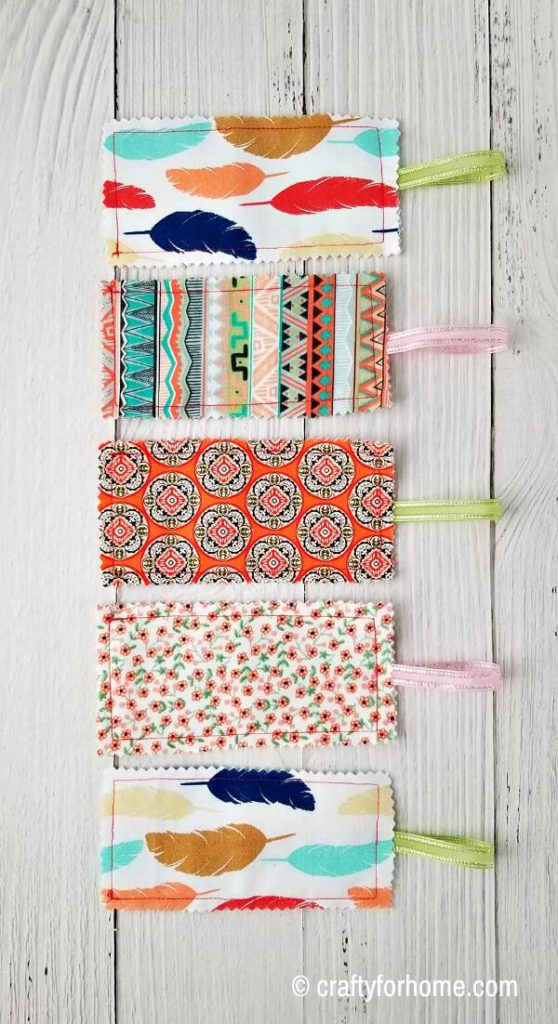 Fabric Bookmarks From Scraps