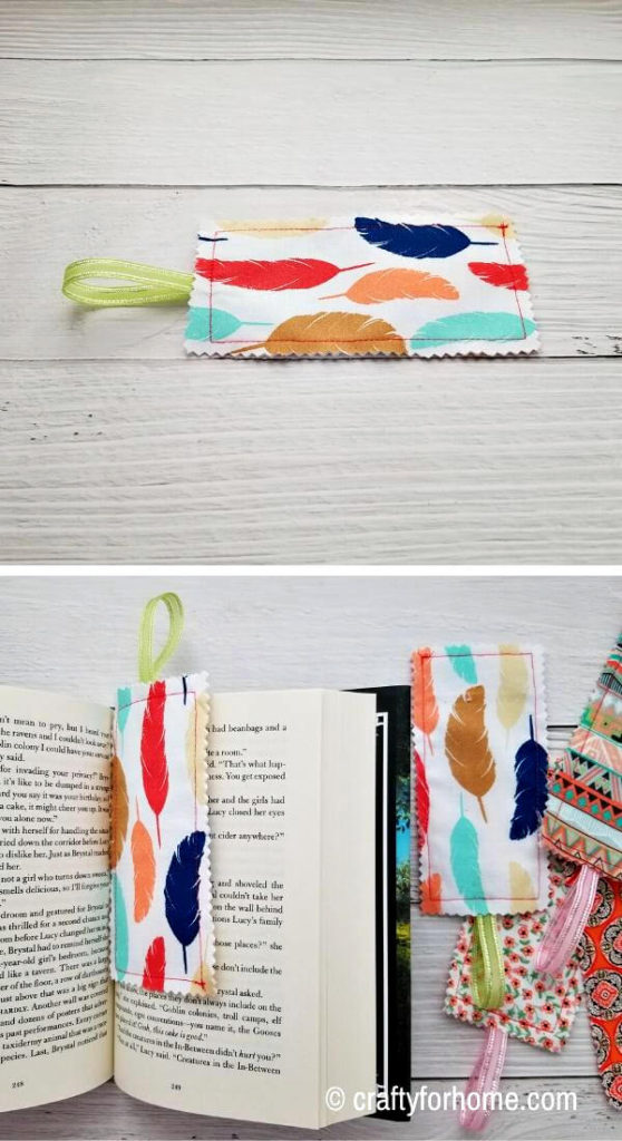 Homemade Fabric Bookmarks