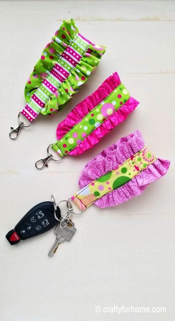 Fabric Keychain Holder