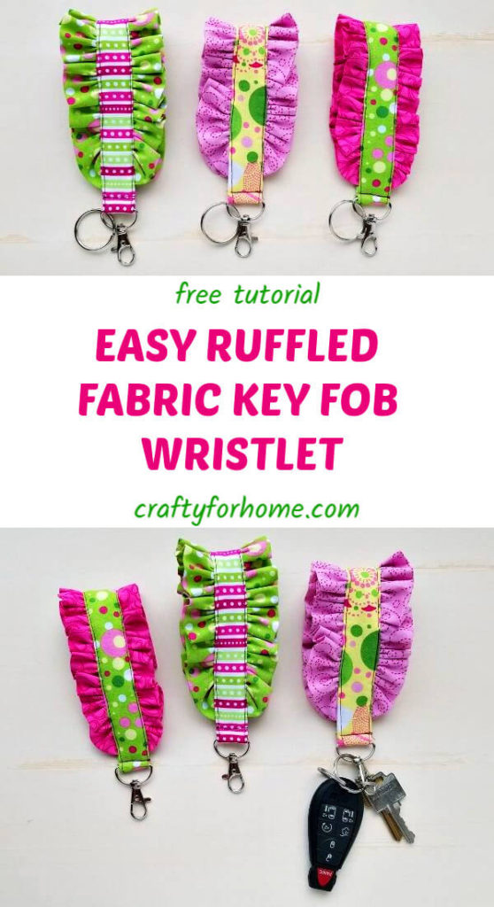 Ruffled Fabric Key Fob Tutorial