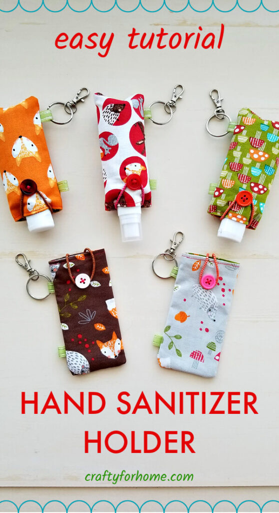 Easy Fabric Hand Sanitizer Holder Tutorial