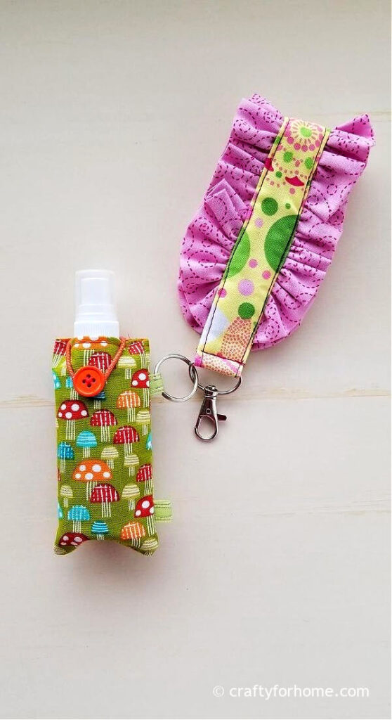 Hand Sanitizer Attach To The Key Fob Wristlet