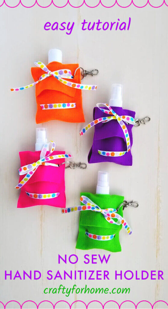 No Sew Hand Sanitizer Pouch
