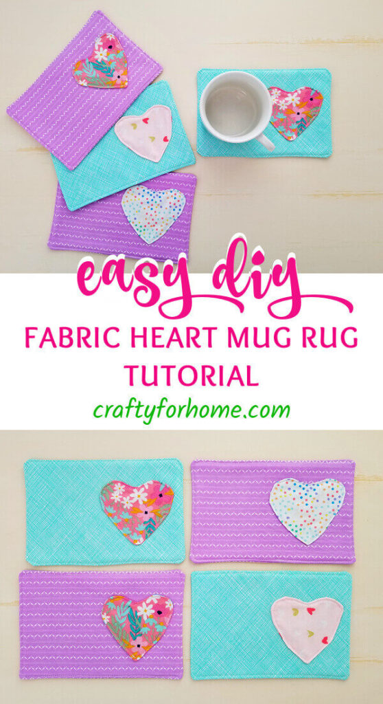 Easy Heart Mug Rug Tutorial