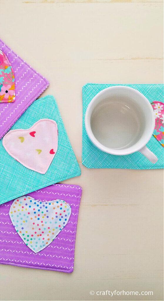 Valentine mug rug.
