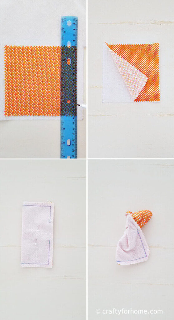 Cut the fabric with interfacing