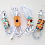 DIY Fabric Cord Holder Tutorial
