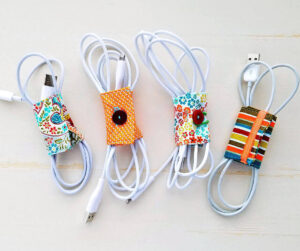 DIY Fabric Cord Holder Tutorial