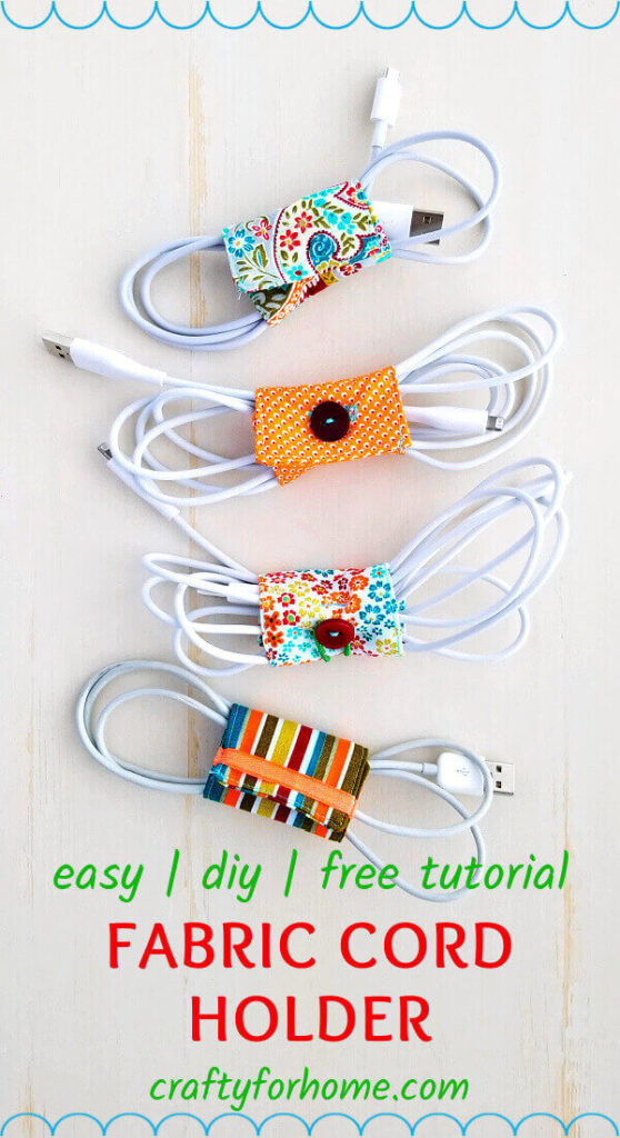 Fabric Cord Holder Tutorial
