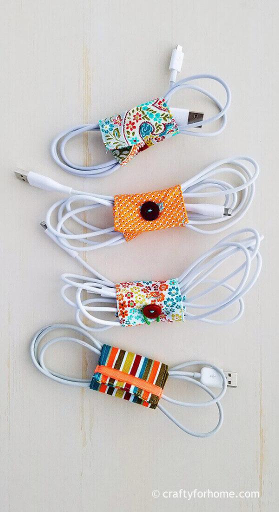 Fabric cord holders