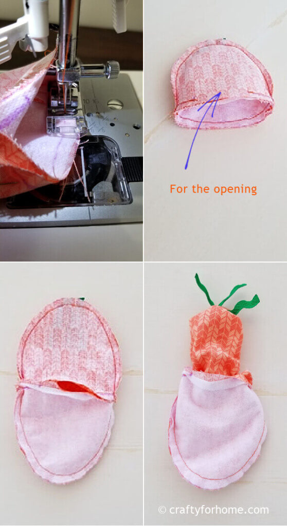 Sewing egg cozy.