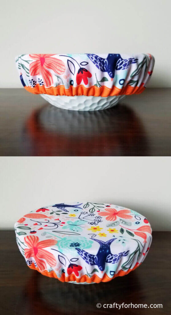 Bowl Cover With Bias Tape