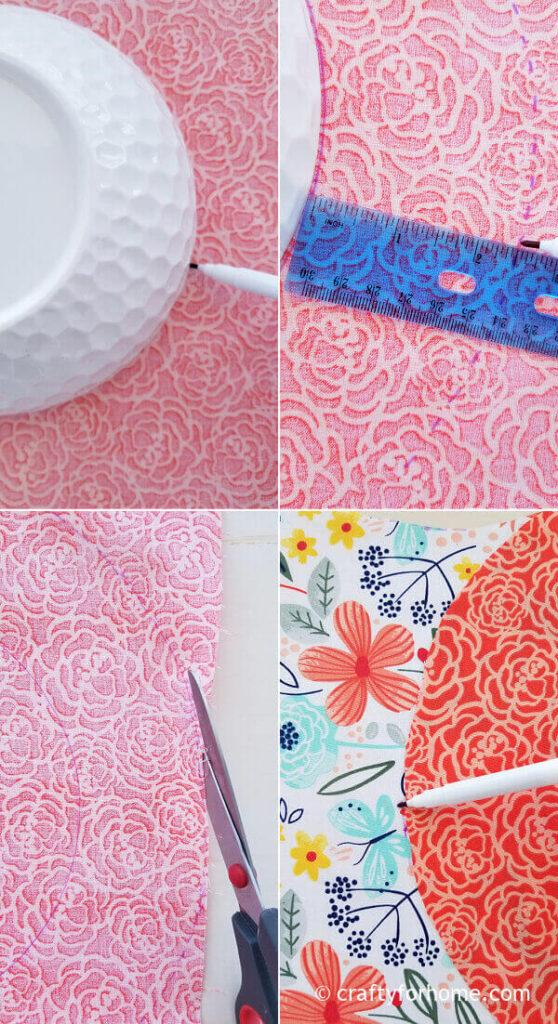 Make Circular Line On Fabric