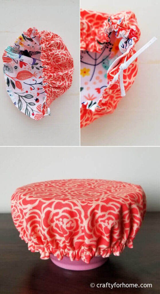 Red Bowl Cover With Elastic