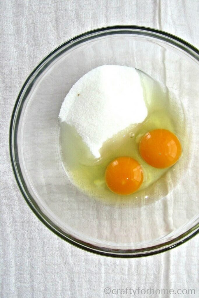 Egg And Sugar On The Bowl
