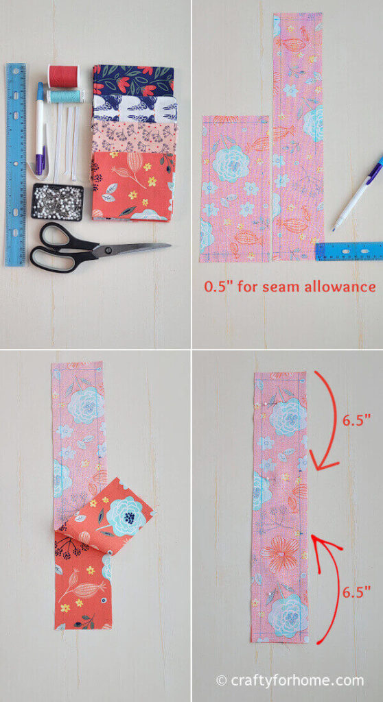 Measuring fabric for tissue box cover