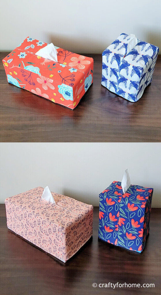 Rectangle and cube tissue box