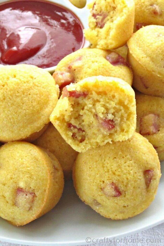 Serving Corn Dog Muffins