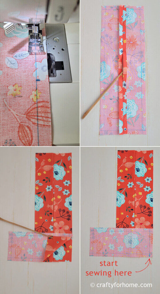Sewing rectangle fabric