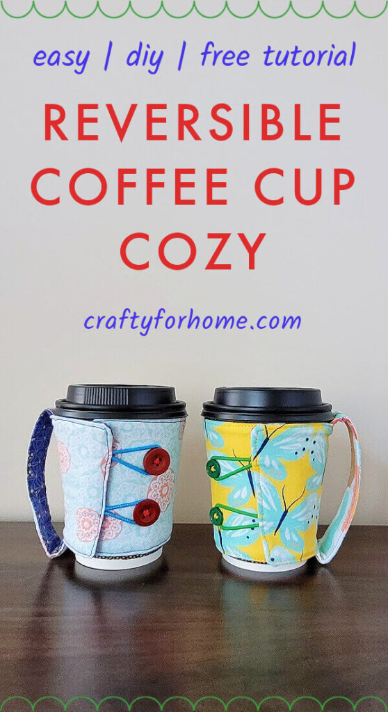 Fabric coffee cozy