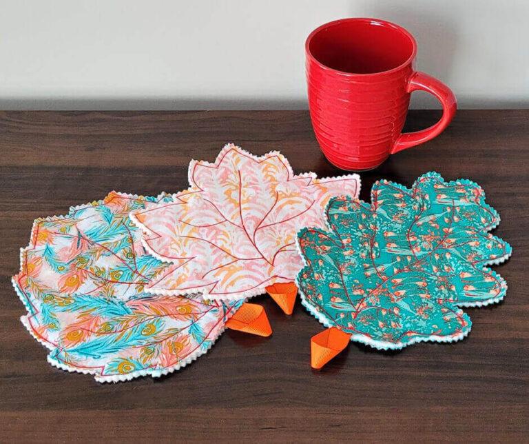 Leaf coasters ideas