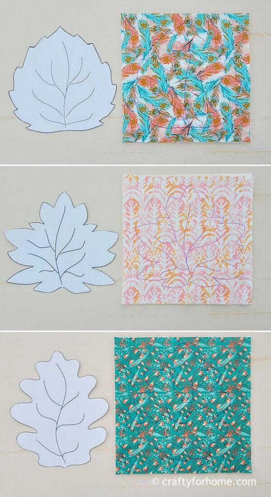 Leaf coaster templates