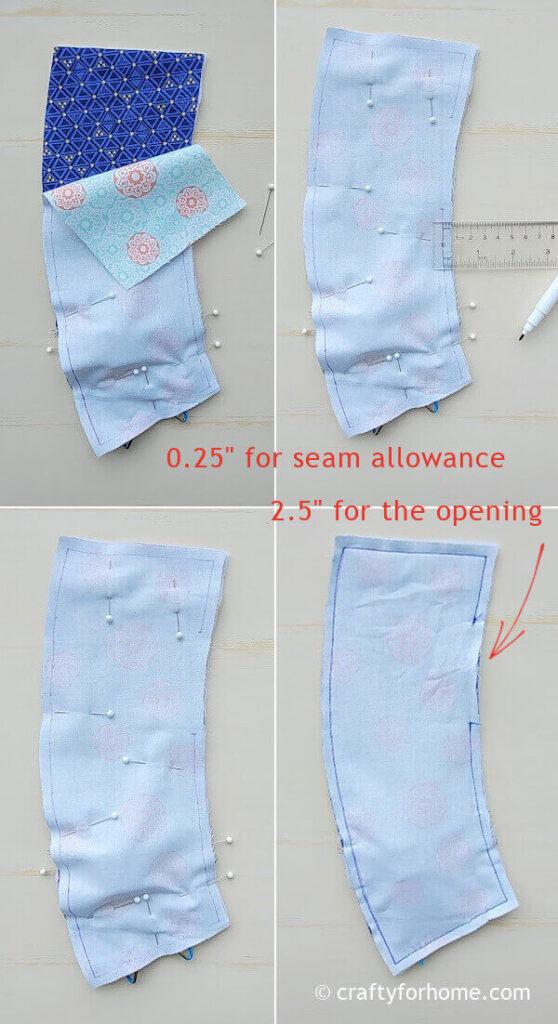 Marking seam allowance