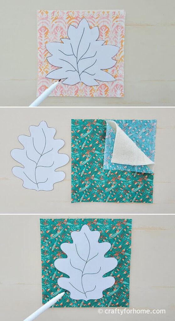 Tracing oak leaf template